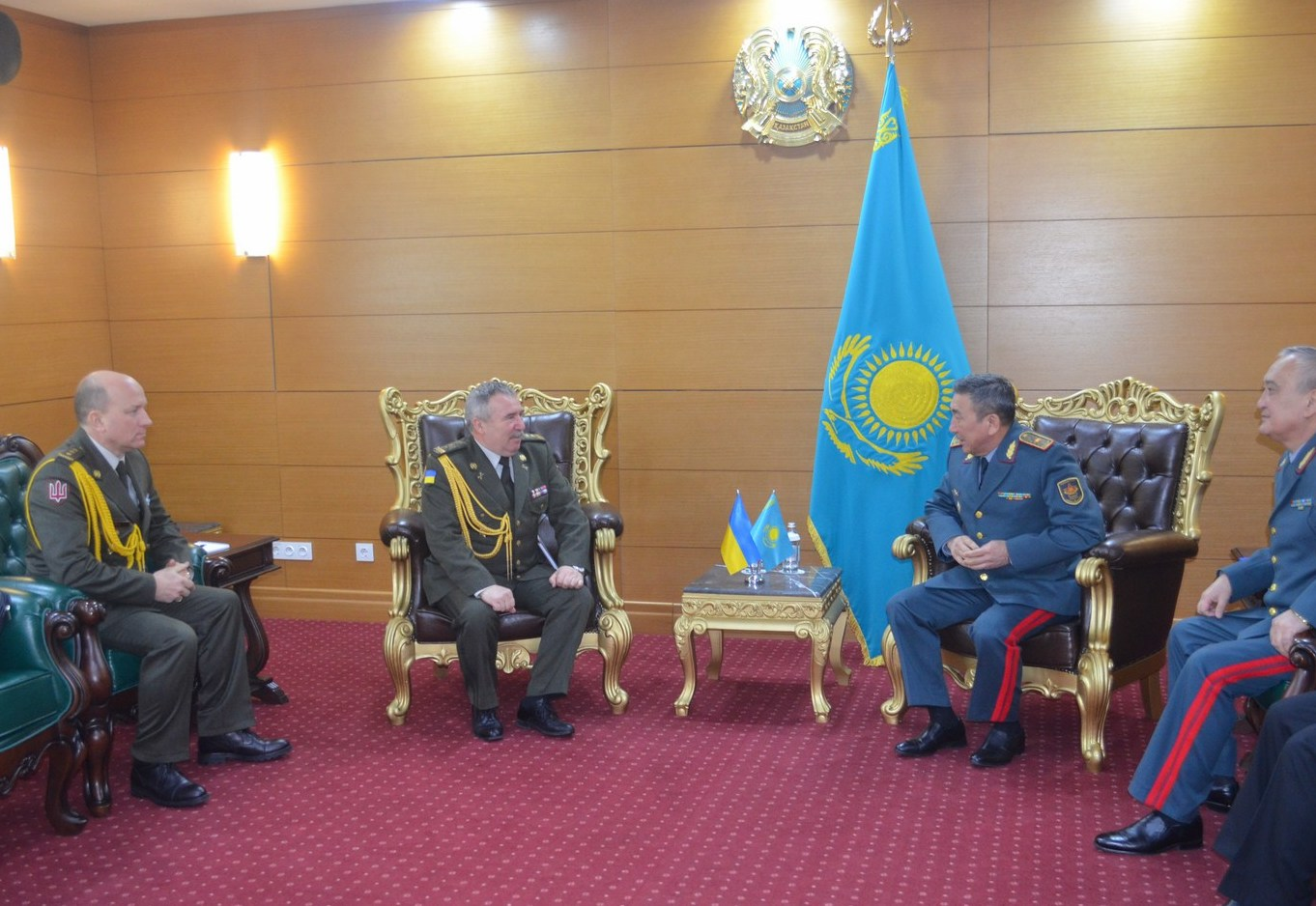 Attaché's acquaintance visit on the issues of Ukrainian defense